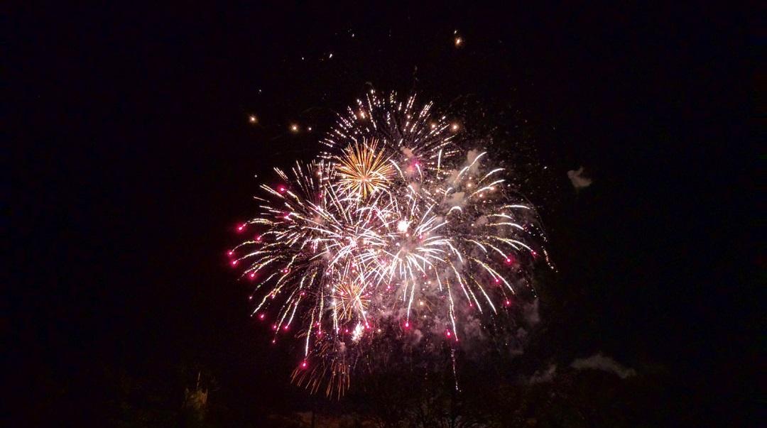 Bonfire night, fireworks, Lancaster, Lancashire